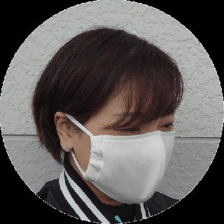 洗える布マスク(1枚入り)内側の色・ひもの長さが選べます