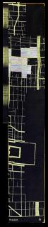 「三帯三」PROJECT #002 - 京都西陣市街図(白・黒) -【再生糸飾り無し】「帯に浮かび上がる、進化再生を続ける西陣の街」