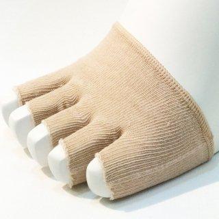 つま先カバー 5本指 ハーフ|ブリーズブロンズの消臭靴下