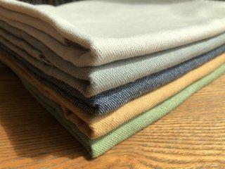 カラフルな綿ウール麻のデニム風綾織り