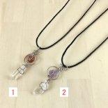 天然石とペルー水晶のネックレス