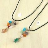 【ペルー製】天然石とカラフル細石ののネックレス(パワーストーン)