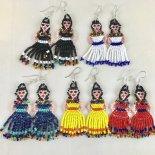 メキシコ民族衣装人形ピアス(エスニックピアス)