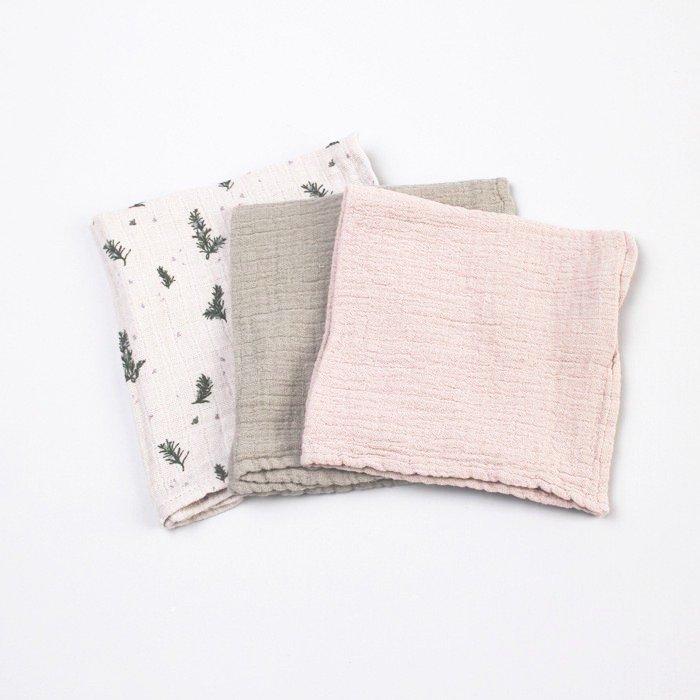 ハンカチ Rosemary Burp Cloths 3色セット