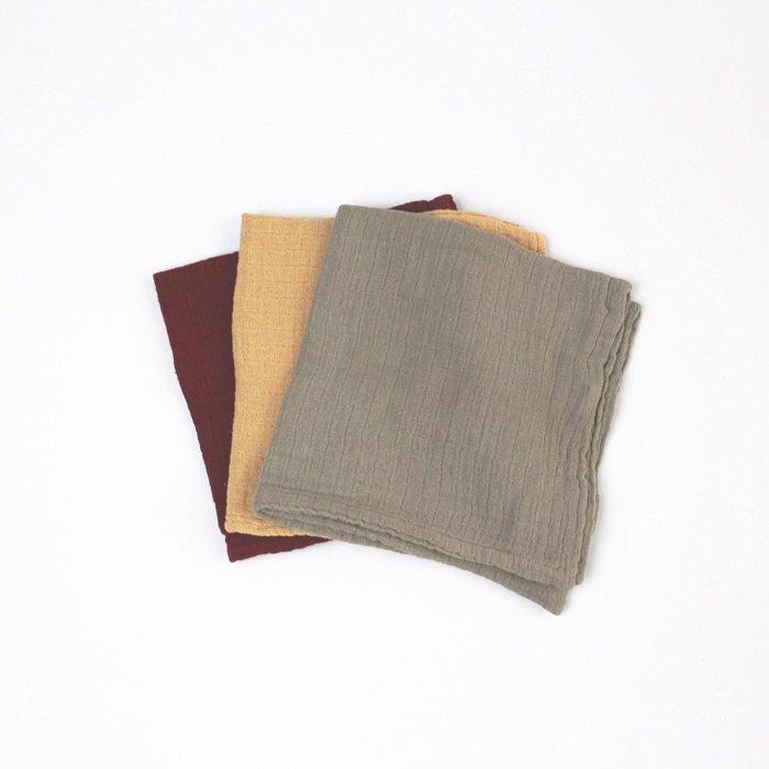 ハンカチ Mulberry  Cloths 3色セット
