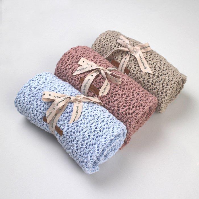 コットン&ウールブランケット Croshet Cotton/Wool Blanket