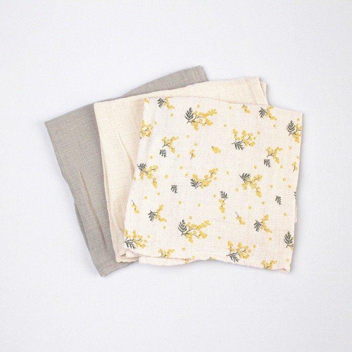 ハンカチ Mimosa Burp Cloths 3色セット