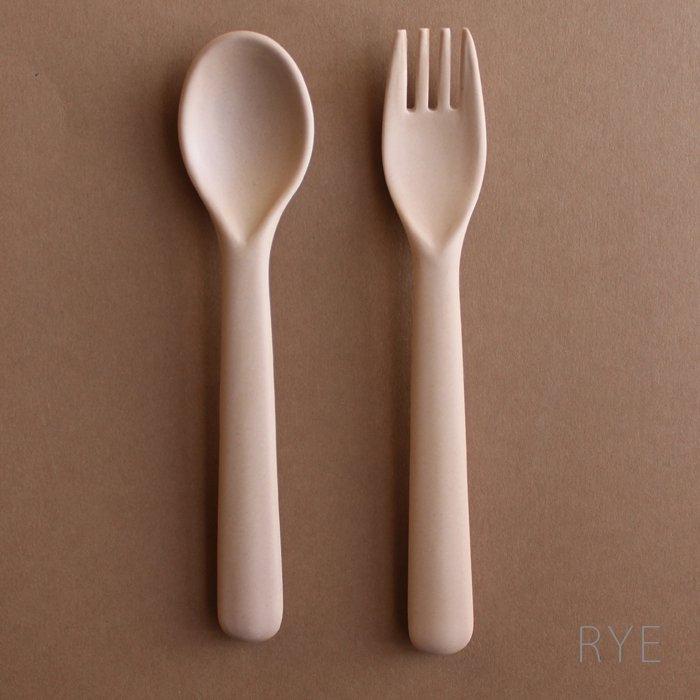 cink Bamboo toddler spoon & folk set