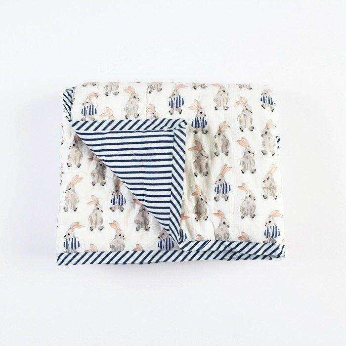 Quilt spred/Rabbit print/S