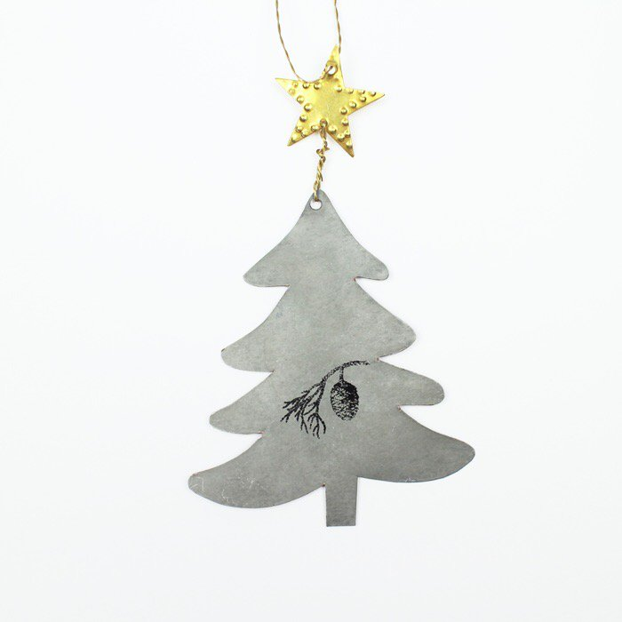 christmastree cone print クリスマスツリー コーンプリント