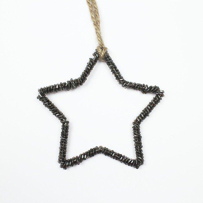glass beads star silver ガラスビーズ スター シルバー