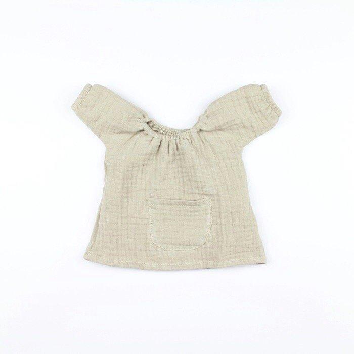 minikane doll clothes Robe Jeanne en double gaze Mastic