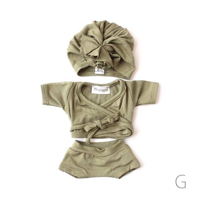 """<img class='new_mark_img1' src='https://img.shop-pro.jp/img/new/icons8.gif' style='border:none;display:inline;margin:0px;padding:0px;width:auto;' />minikane doll clothes Ensemble""""AMY""""shorty en jersey"""