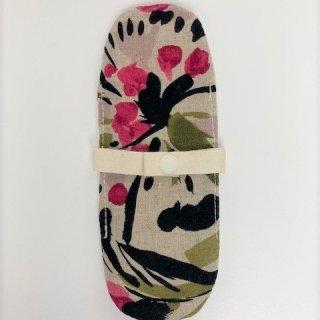 布ナプキン/おりもの用ライナー/抽象花柄(濃ピンク)