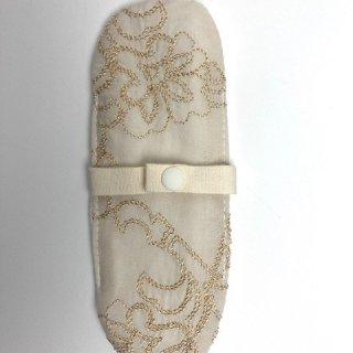 布ナプキン/おりもの用ライナー/ゴールド刺繍