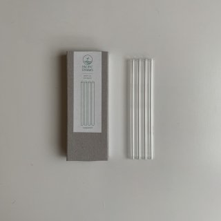 Pacific Straws (made in Germany) ガラスストロー (15cm:4本セット)