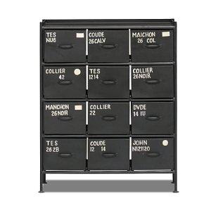 スチールチェスト<ienowa/縦型12杯引出チェスト MSG BK色><img class='new_mark_img2' src='https://img.shop-pro.jp/img/new/icons61.gif' style='border:none;display:inline;margin:0px;padding:0px;width:auto;' />