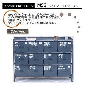 スチールチェスト<ienowa/横型12杯引出チェスト MSG GY色><img class='new_mark_img2' src='https://img.shop-pro.jp/img/new/icons61.gif' style='border:none;display:inline;margin:0px;padding:0px;width:auto;' />