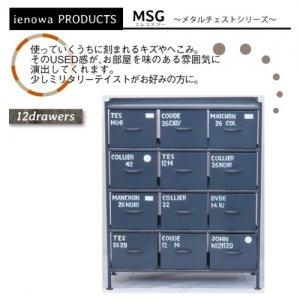 スチールチェスト<ienowa/縦型12杯引出チェスト MSG GY色><img class='new_mark_img2' src='https://img.shop-pro.jp/img/new/icons61.gif' style='border:none;display:inline;margin:0px;padding:0px;width:auto;' />