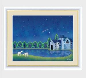 インテリアアートMichiruやすらぎの夜景「流星」