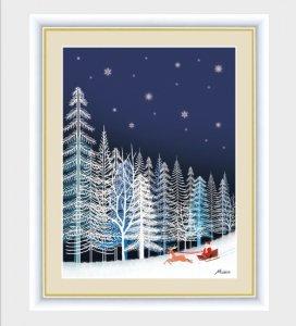インテリアアートMichiruやすらぎの夜景「雪の結晶」