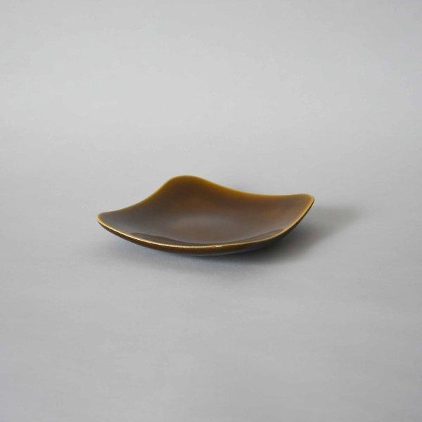 雅峰窯(丹波焼) 角丸の中皿