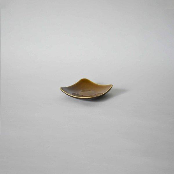 雅峰窯(丹波焼) 角丸の小皿