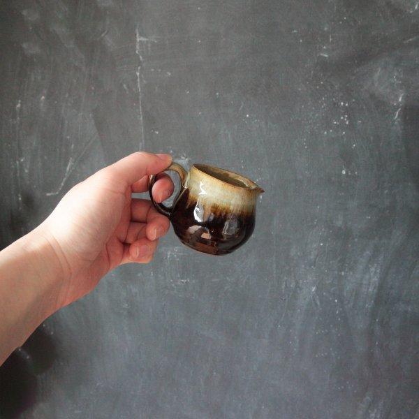 源右衛門窯(丹波焼)ミルク入れ・掛分け2