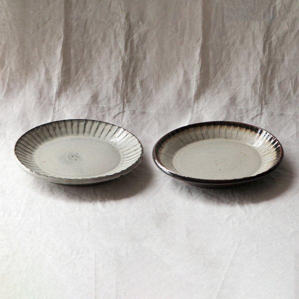 俊彦窯(丹波焼)鎬7寸皿 3色