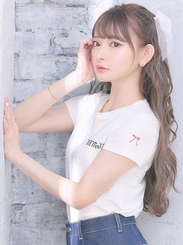 MieQaMワンポイントロゴTシャツ-ホワイト