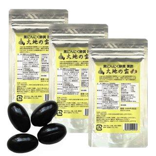 黒 にんにく卵黄 黒酢 120粒|お得な3個セット|大地の宝 黒酢にんにく すっぽん サプリ