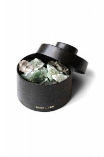 Flat Pot Pourri TOTEM GREEN mini -  emerald brut , green aventurine
