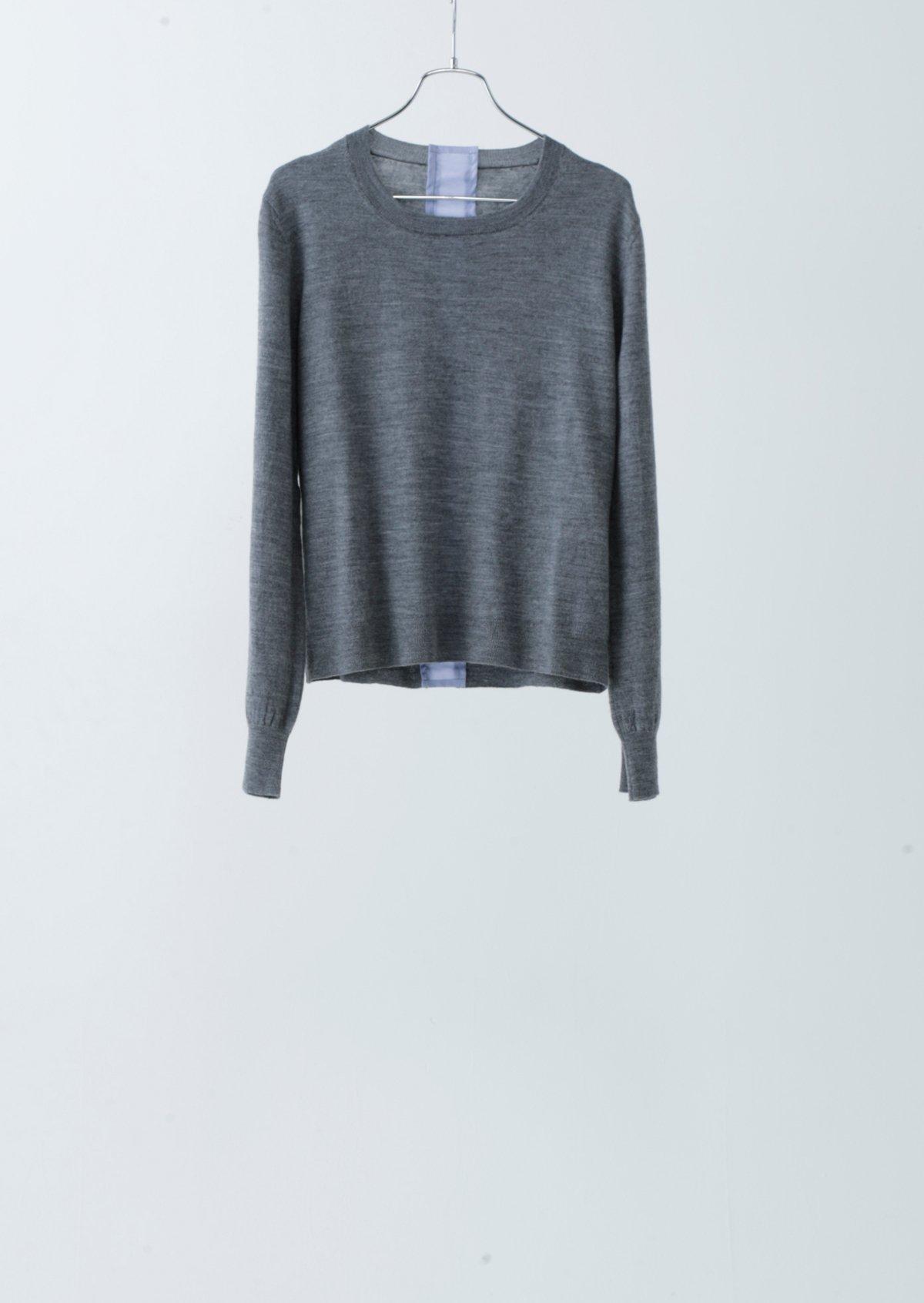 シャツラインセーター