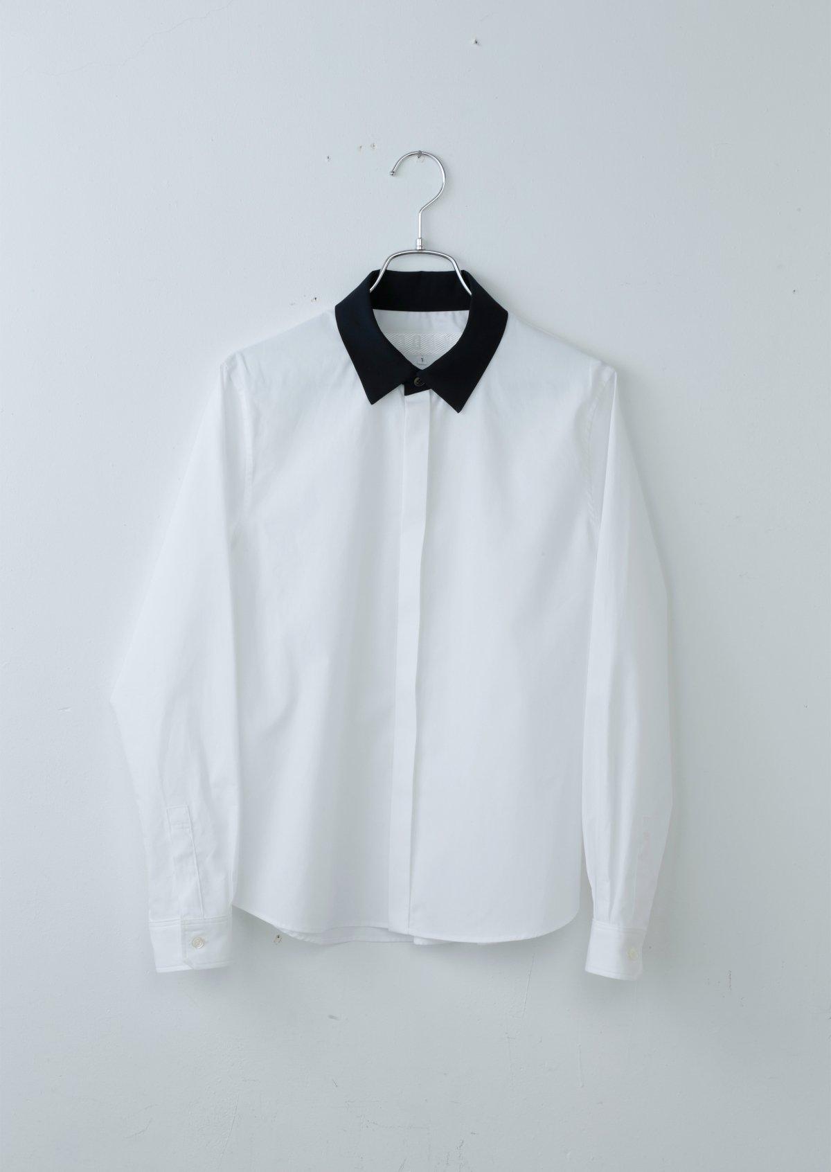 ワイドカラーシャツ/バイカラー