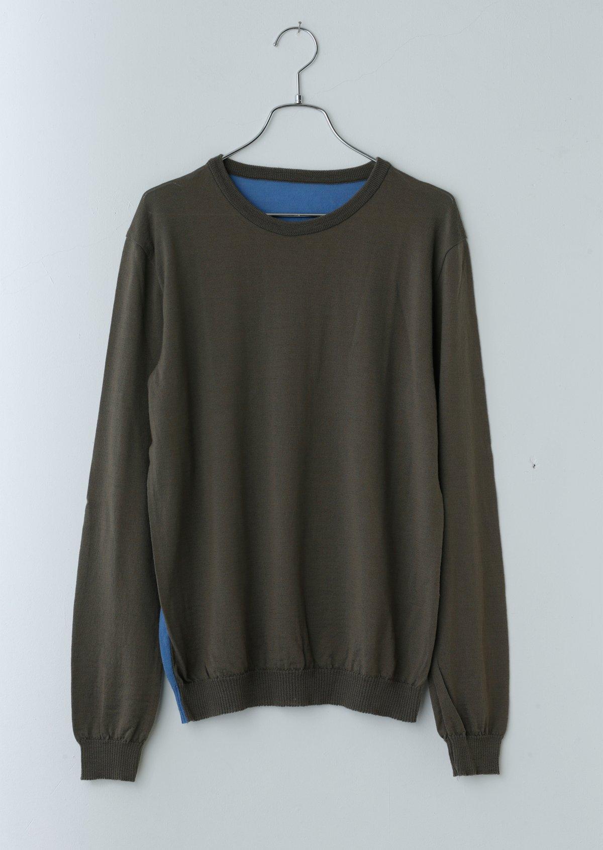 メンズカラーブロックセーター