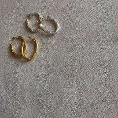 aries oval hoop pierced earrings
