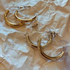 aries clear hoop pierce/earring