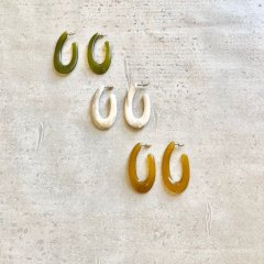 SELECT color oval pierce/earring