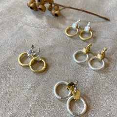 aries bi-color hoop pierced earrings