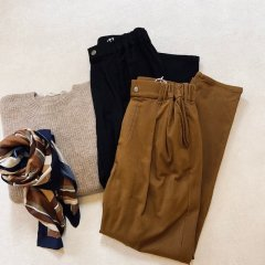 SELECT warm tapered pants