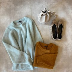 SELECT color mohair knit