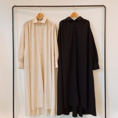 SELECT gather shirt one-piece
