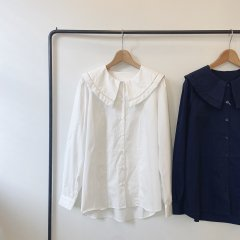 SELECT big collar shirt