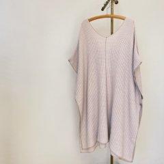 SELECT waffle knit poncho