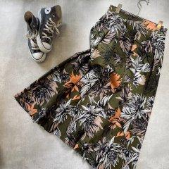 SELECT flower print skirt