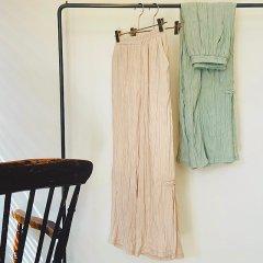 SELECT chinabutton flare pants