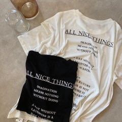 SELECT lettering print tee