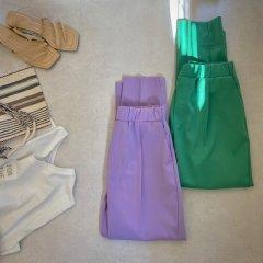 SELECT vividcolor taperd pants