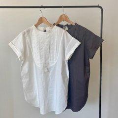 SELECT pin tuck yoke blouse