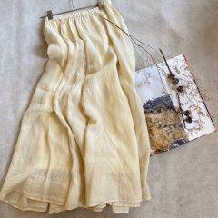 SELECT linen flare skirt